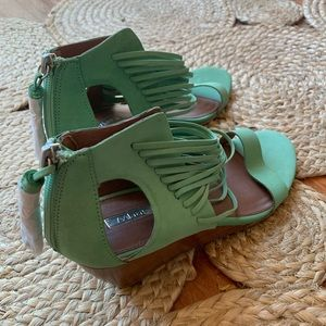 NWOT Anthropologie Matiko Heeled Sandals